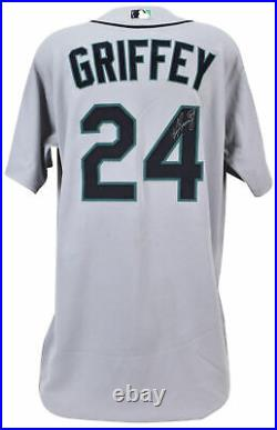 Mariners Ken Griffey Jr. 2009 Game Used Grey Majestic Jersey BAS #A68032