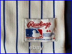 Men's vintage 80's Rawlings MLB Chicago Cubs game cut jersey size 44