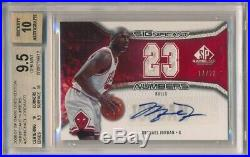 Michael Jordan 2006/07 Sp Game Used Numbers Auto Dual Jersey #/23 Bgs 9.5 Gem 10