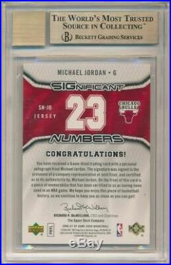 Michael Jordan 2006-07 Sp Game Used Significant Numbers Auto Jersey /23 Bgs 9.5