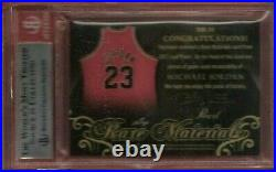 Michael Jordan GAME USED JERSEY PATCH CARD BGS MINT 9 #d1/5 2017 LEAF PEARL RARE