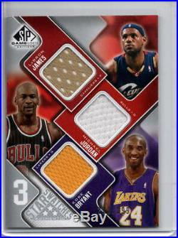Michael Jordan Lebron James Kobe Bryant Game-used Jersey Patch /299 Ud Sp Triple