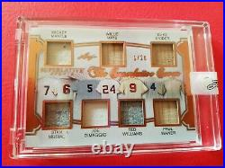 Mickey Mantle Ted Williams Joe Dimaggio Willie Mays Stan Musial Jersey Card Leaf