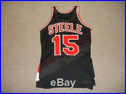 Mid-1970's Larry Steele Portland Trailblazers Game Used Signed NBA Jersey #15