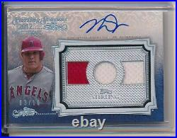 Mike Trout Auto Game Used Jersey Relic 2020 Topps Sterling Silver 3/10