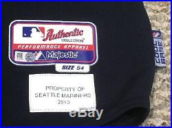 NELSON CRUZ sz 54 #23 2015 Seattle Mariners game used jersey Road navy MLB HOLO