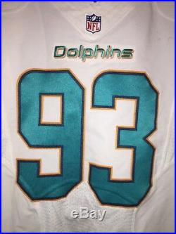 Ndamukong Suh Miami Dolphins Game Used Worn Jersey LA Rams Super Bowl Lions