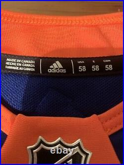 New York Islanders Adidas Game Worn Jersey MIC Made In Canada NHL 58 With OG Kit