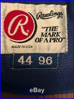 New York Mets 1996 Rawlings Minor League jersey game used Size 44