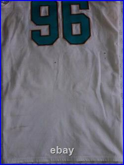 Nike On Field NFL 2017 Miami Dolphins Game Used Worn Jersey & Pants #96 Taylor