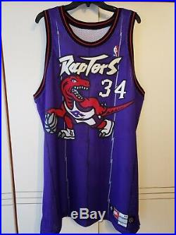Oakley 1998-99 Toronto Raptors Nike Authentic Game Used Jersey Size 54+3
