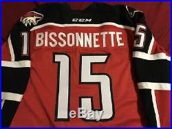 Paul Bissonnette Game Used Worn AHL Portland Pirates (Coyotes) Jersey
