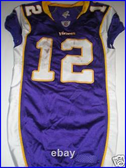 Percy Harvin Game Used Signed/autographed Jersey Minnesota Vikings Rookie