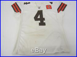 Phil Dawson Cleveland Browns NFL game used player football white jersey