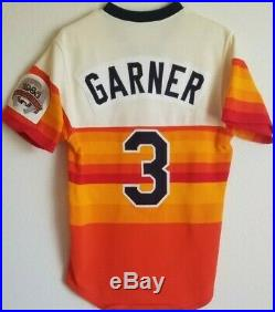 Phil Garner'86 Astros game used worn rainbow jersey autographed All Star patch