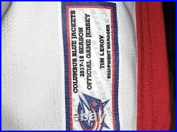 Pierre-luc Dubois Game Used Columbus Blue Jackets Jersey