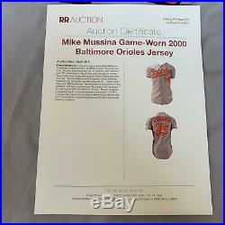 RARE Mike Mussina 2000 Game Used Baltimore Orioles Jersey With COA Hall Of Fame