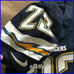 RARE San Diego Chargers Dexter McCoil #22 NFL 2017 NIKE Game Used Jersey 42