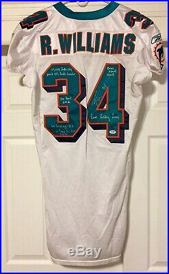 Ricky Williams Miami Dolphins Game Worn Autographed Jersey Game Used Texas NFL