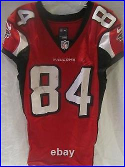 Roddy White Atlanta Falcons Game Used Home Jersey (Oct.'14) PSA Cert