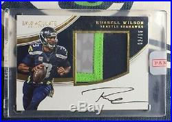 Russell Wilson Immaculate GAME USED Jersey ON CARD Auto #2/15 Redeemed HOT