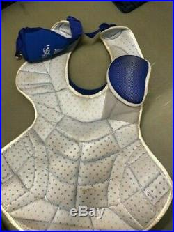 Salvador Perez 2014 ALDS Game Used Auto Chest Protector Royals Playoffs