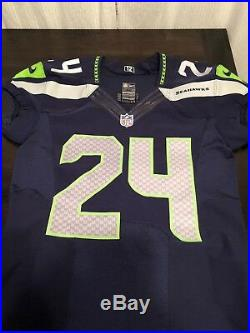 Seattle Seahawks Marshawn Lynch Game Used Issued Jersey 2013 Beast Mode