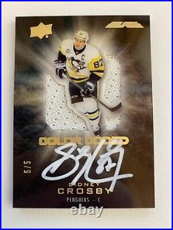 Sidney Crosby 2016-17 Ud Black Color Coded Game-used Jersey Auto 5/5 Penguins
