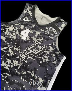 Spurs Derrick White City Edition Game Jersey Nba Champion Used Worn Issued Camo