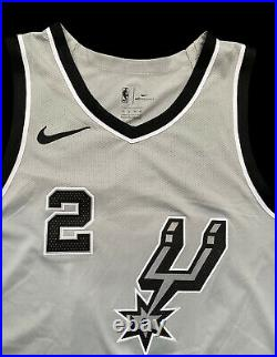 Spurs Kawhi Leonard Game Jersey Raptors Lakers NBA Worn Used Issued Parker Gino