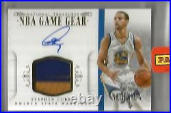 Stephen Curry 14/15 National Treasures Autograph Game Used Jersey Patch #1/1