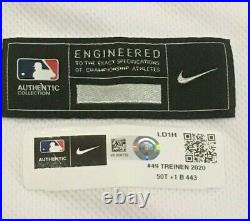 TREINEN sz 50 2020 Los Angeles Dodgers home game jersey used ALL STAR PATCH MLB