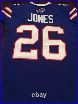 Taiwan Jones Buffalo Bills Game Used Worn Jersey Signed Auto Captains Patch