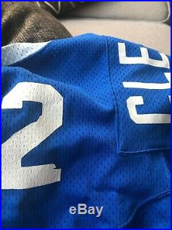Tom Clements CFL game used Winnipeg Blue Bomber Jersey Notre Dame Fighting Irish