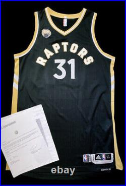 Toronto Raptors Game Worn Used Jersey OVO Terence Ross Patch Meigray Magic Rev30