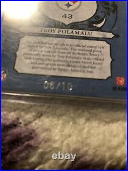 Troy Polamalu Auto Patch 6/10 2010 panini crown royale royalty Game Used