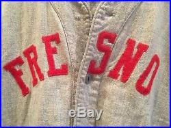 Vintage 1940s-50s FRESNO STATE BULLDOGS Game Used Flannel Baseball Jersey #11