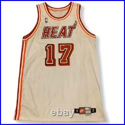Vintage 1997-98 Brent Barry Miami Heat Nike Game NBA Jersey 50 + 4