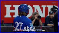 Vladimir Guerrero Jr Game Used Blue Jays Jersey 1st MLB game in Montreal