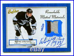 WAYNE GRETZKY 2005-06 UD Beehive Auto Game Used Jersey Prime Patch HOF SP 46/50