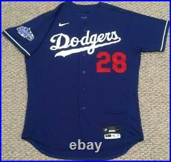 WHITE size 48 2020 Los Angeles Dodgers game used jersey ALL STAR PATCH SPRING