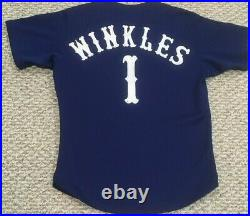 WINKLES 1979-1981 Chicago White Sox Game Used jersey road royal blue Japan made