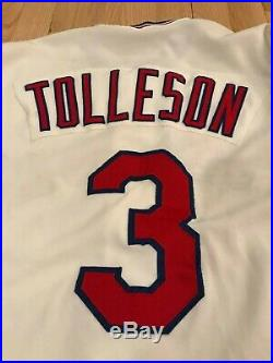Wayne Tolleson Texas Rangers Home Game Used Jersey 1981 TR Patch