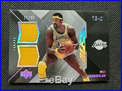Wilt Chamberlain 2006-07 Ud Black Dual Game Used Jersey Insert #75/99! Sp Relic