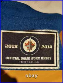 Winnipeg Jets Game Worn Jersey, Gameworn, Ellerby, COA, Size 58, NHL, DEL, KHL, AHL