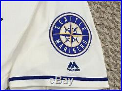 ZYCH #55 size 48 2017 Seattle Mariners Home Cream game used jersey 40TH MLB HOLO