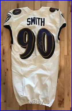 ZaDarius Smith 2017 Game Used Autographed Worn Baltimore Ravens Jersey